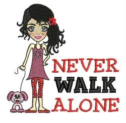 Never Walk Alone embroidery design