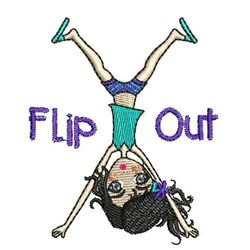 Flip Out embroidery design