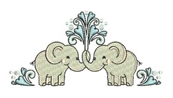 Love Elephants embroidery design