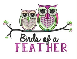 Birds Of Feather embroidery design