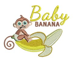 Baby Banana embroidery design