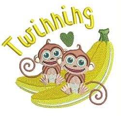 Twinning embroidery design