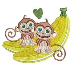 Love Monkeys embroidery design