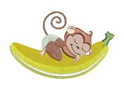 Sleepy Monkey embroidery design