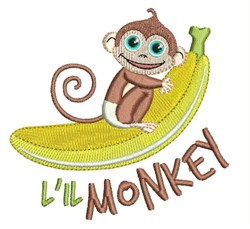 Lil Monkey embroidery design