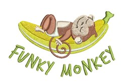 Funky Monkey embroidery design