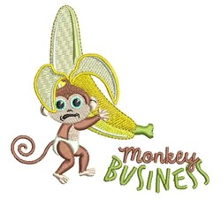 Monkey Business embroidery design
