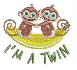 Im A Twin embroidery design