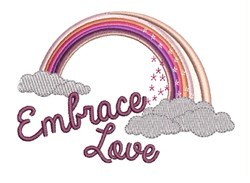 Embrace Love embroidery design