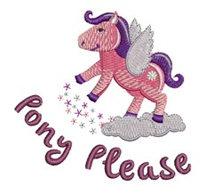 Pony Please embroidery design