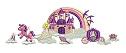 Princess Scene embroidery design