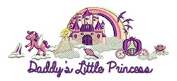 Daddys Little Princess embroidery design