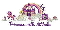 Princess With Attitude embroidery design