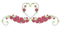 Heart Roses embroidery design