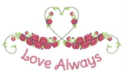 Love Always embroidery design