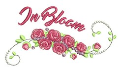 In Bloom embroidery design