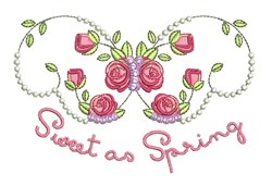 Sweet As Spring embroidery design