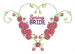 Spring Bride embroidery design