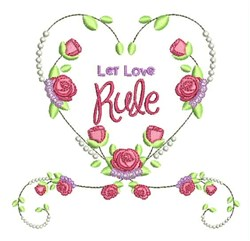 Let Love Rule embroidery design