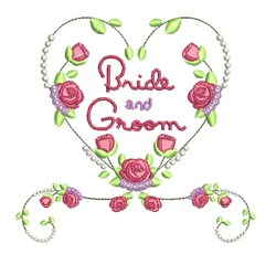 Bride And Groom embroidery design