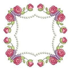 Rose Frame embroidery design