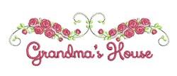Grandmas House embroidery design