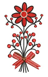 Red Flower embroidery design
