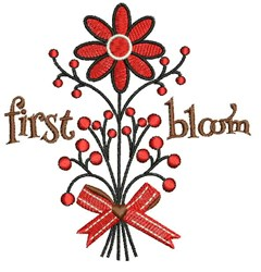 First Bloom embroidery design