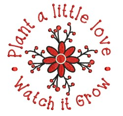Plant Love embroidery design