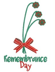 Remembrance Day embroidery design