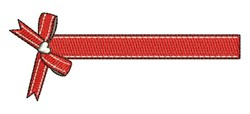 Red Ribbon embroidery design