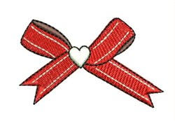 Ribbon Bow embroidery design