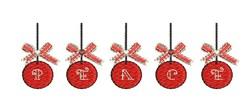 Peace Ornaments embroidery design