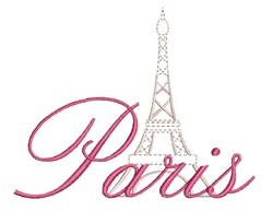 Paris Tower embroidery design