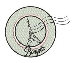 Bonjour embroidery design