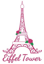 Eiffel Tower embroidery design