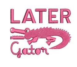 Lator Gator embroidery design