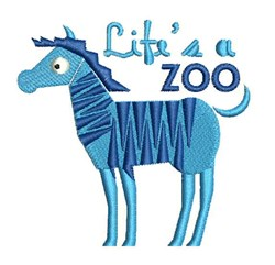 Lifes A Zoo embroidery design