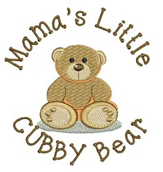 Cubby Bear embroidery design