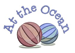 At The Ocean embroidery design