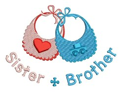 Sister & Brother embroidery design