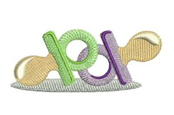 Pacifiers embroidery design