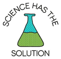 Science Has Solution embroidery design