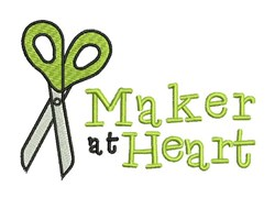 Maker At Heart embroidery design