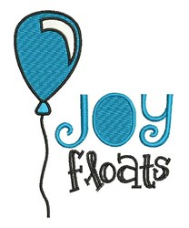 Joy Floats embroidery design