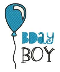 B Day Boy embroidery design