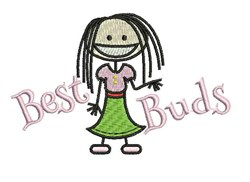 Best Buds embroidery design