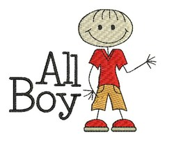 All Boy embroidery design