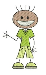 Boy Figure embroidery design