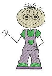 Happy Boy embroidery design